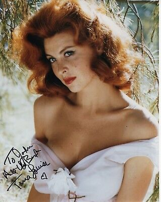 TINA LOUISE AUTHENTIC SIGNED 8x10 COLOR PHOTO       GILLIAN'S ISLAND     TO JOHN