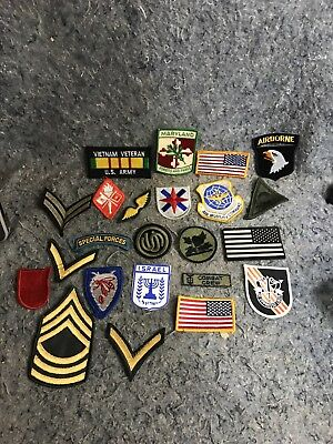Lot Of Miscellaneous US Military Patches Vietnam Veteran Airborne Israel Special