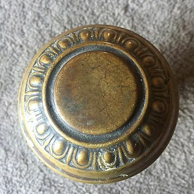 Antique Victorian Egg & Dart Design Brass Door Knob #1