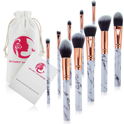 Start Makers Marble Make Up Brushes Professional Unique style Makeup 10 Pieces