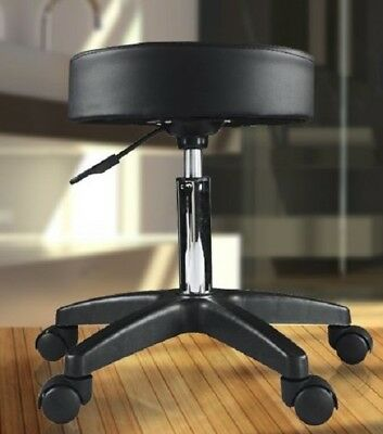 Work Stool Chair Doctor Swivel Office Hydraulic Adjustable Height Backless Seat