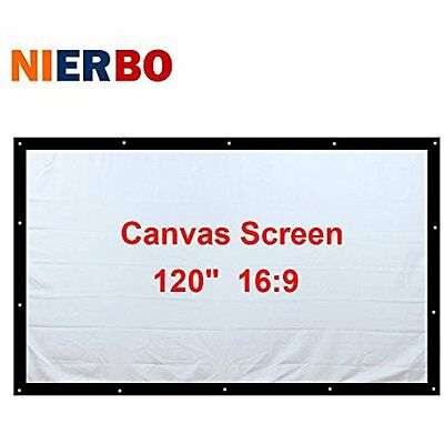 Portable Projector Screen 120 Inch Theater Movies HD Projection Indoor Outdoor
