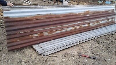Vintage Metal CORRUGATED TIN Reclaimed Rusty Mink Shed Barn Tin (PER SQ.FT.)