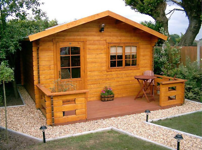 Cabin kit 300sq/ft 13'x 23' Wooden Guest, Pool, Garden Tiny House (FREE SHIPPING