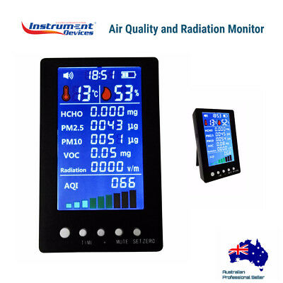 8in1 Indoor Air Quality Meter Formaldehyde VOC EMF Electric Radiation Monitor