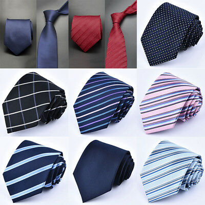 Fashion Classic Striped Tie JACQUARD WOVEN Men's Silk Suits Ties Wedding Necktie