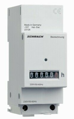 Modular operating hour counter SCHRACK 230 V AC, with terminal cover BZ326418-A