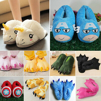Adults Kids Winter Warm Indoor Slippers Flats Claw Paw Shoes Cosplay Costume New