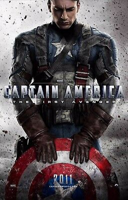 "Captain America First Avenger(11"" x 17"") Collector's Poster Print -( T3) - B2G1F"