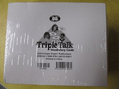 Super Duper Publications - Triple Talk Vocabulary Cards - NEW