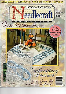 Town & Country Needlecraft - 20 projects - cross stitch patch crochet sew knit