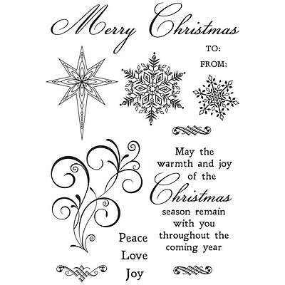Kaisercraft - CHRISTMAS JEWEL Clear Stamp Set - CS306 - sentiments, snowflakes