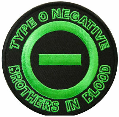 """Type O Negative Blood Gothic Heavy Metal Embroidered Iron On Sew On Patch 3"""""""