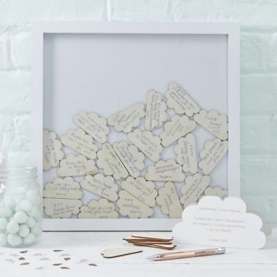 Boho Baby Shower  Drop Top Wooden Frame Alternative Guest Book 30 Clouds Inc