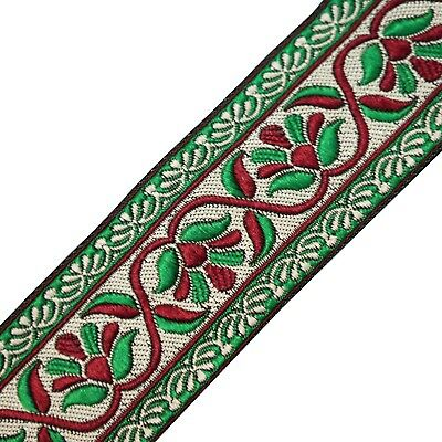 Trim Sari Border Multicolor Abstract Weaving Ribbon 5.5 Cm Wide Trim By The Yard