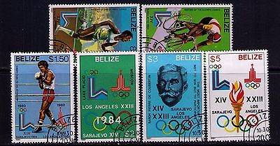 Belize Stamps 1984 Los Angeles Olympics SC# 555-60 Used CV:$37