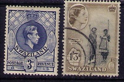 Swaziland Stamps KGVI/QEII Sc # 31&61 MH/Used
