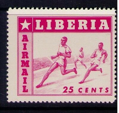 Liberia Sc#C90v MNH. 1955 25c Runners,Missing Colors, Most probably from SS