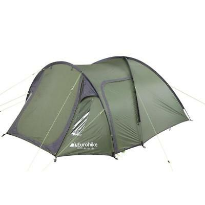 Eurohike Avon Deluxe 3 Man Tent. Camping Outdoor Shelter Green
