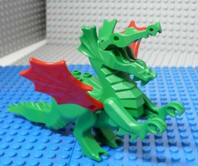 LEGO Minifig Animal Dragon, Classic with Red Wings Green  x1PC