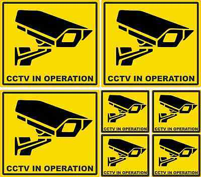 7 Security CCTV in Operation Warning Vinyl Stickers Laminated weatherproof Signs