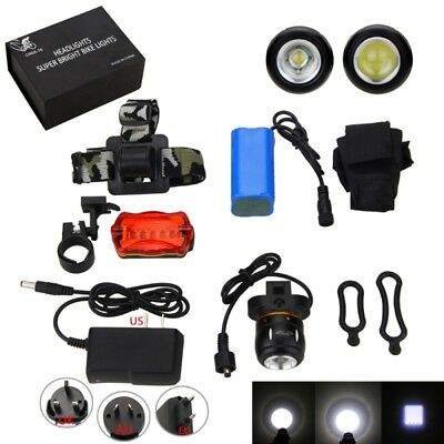 Zoomable Rechargeble 4.2v 5000LM XML T6 LED Front Vélo lumière Bicyclette Phare