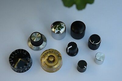 VARIOUS POTENTIOMETER KNOBS and GUITAR VOLUME TONE CONTROLS, 6mm Shaft