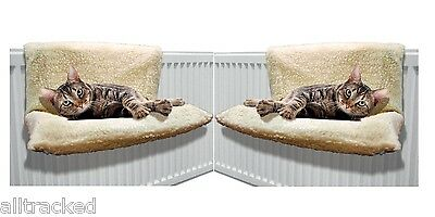 2X Cat Radiator Bed Warm Fleece Beds Basket Cradle Hammock Animal Puppy Pet
