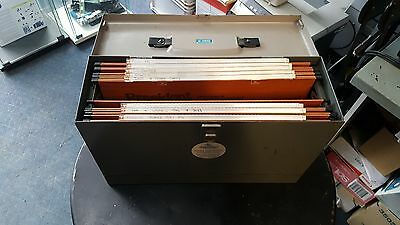 Vintage Retro Industrial Metal Document Filing Box A4 Storage Display Office