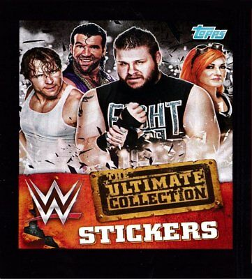 WWE Topps 2017 Ultimate Sticker Collection -- BUY 3 GET 7 FREE