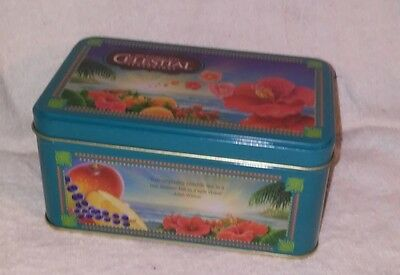 NEW 2016 Red Zinger CELESTIAL SEASONINGS TEA TIN MEDIUM SIZE 6 X 3