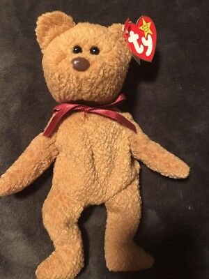 ULTRA RARE TY Retired Beanie Baby  Curly  Bear   WITH OVER 11 ERRORS ... 77031f2ced2