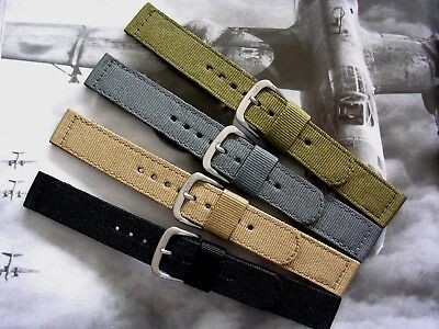 NATO ® 2pc WWII Ballistic Nylon Military watch band Combat strap IW SUISSE USA