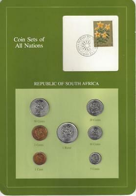 Coin Sets of All Nations - South Africa, ERROR - Bulagria Stamp