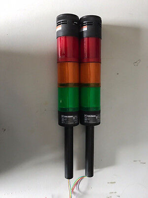2-Cutler-Hammer E26BL Base Stacklight Red/Green/Amber Stack Light