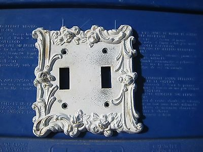 Vintage Country Chic *** M.C.CO *** Ornate Metal 2-Gang Toggle Switch Wall Plate
