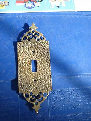Vintage 1-Gang Brass Ornate Toggle Switch Wall Plate JAPAN ?