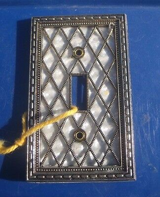Vintage * 1976 Diamond Pearl - AMERICAN TACK * 1-Gang Toggle Switch Wall Plate