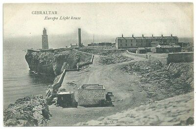 Vintage Postcard. Gibralta, Europa Light house. Unused but dated 1919. Ref:78397