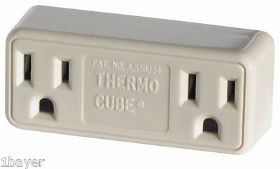 Farm Wildlife Cold Weather Thermo Cube Thermostatic Controlled Plug Wall Outlet