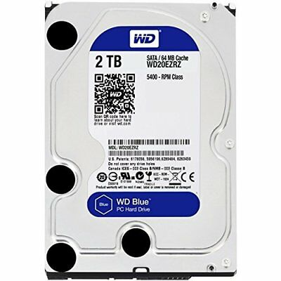 "Western Digital WD Blue 2 TB Internal  3.5"" Hard Drive HDD Desktop 2TB WD20EZRZ"