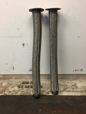 Braided Stainless Steel Supply Lines, QTY:2