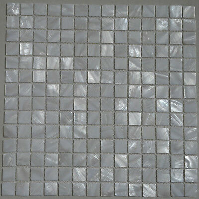 white shell mosaic mother of pearl kitchen backsplash bathroom wall shower tile