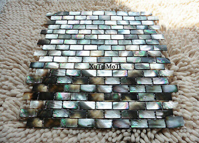 black lip shell mosaic mother of pearl kitchen backsplash bathroom wall tile