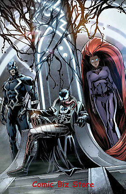 Inhumans Once Future Kings #2 (2017) 1St Printing Venomized Variant Cover