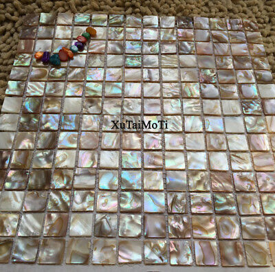 square shell mosaic mother of pearl kitchen backsplash bathroom decorative tile