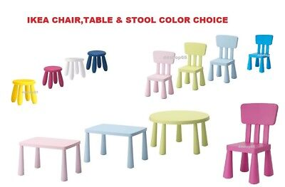 IKEA MAMMUT CHILDREN'S TABLE STOOL CHAIR/ INDOOR/OUTDOOR Colours & Style New