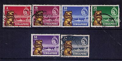 SINGAPORE MALAYA SC # 43-48 Cpl.Used/MH Set