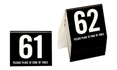 Plastic Table Numbers 61-80, Tent Style, Black w/white number, Free shipping