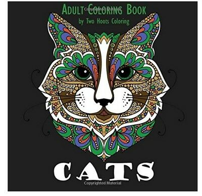 FREE 2 DAY SHIPPING: Adult Coloring Book: Cats (Paperback)